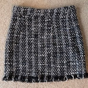 Shein XS black and white skirt